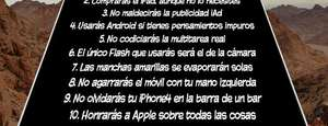 Los 10 mandamientos de Apple