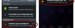 Publicidad en las notificaciones de Android