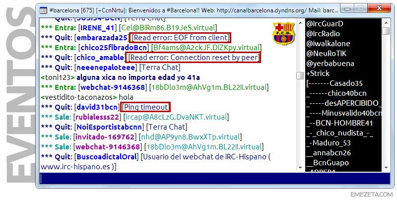 IRC: Eventos