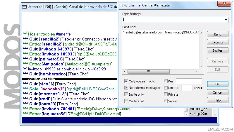 IRC: Operadores, Op, Kick, Ban, etc...