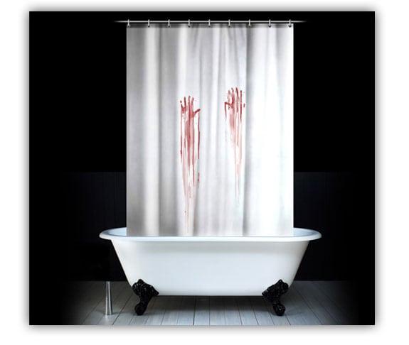 accesorios cortina ducha sangre