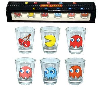accesorios pacman vasitos vasos chupitos shot