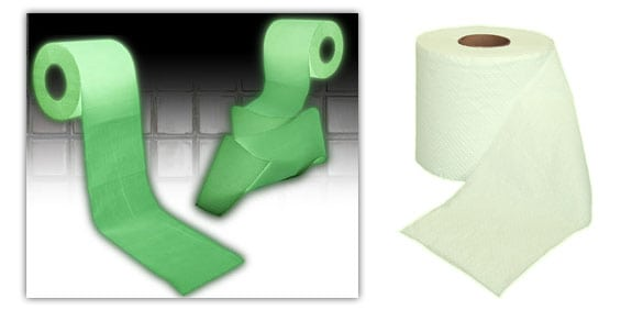 accesorios papel higienico fluorescente paper glow wc