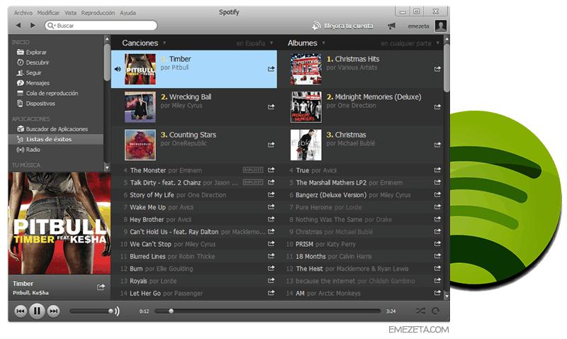 Reproductores de música: Spotify