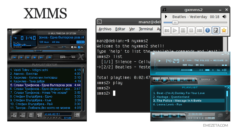 Reproductores de música: Xmms