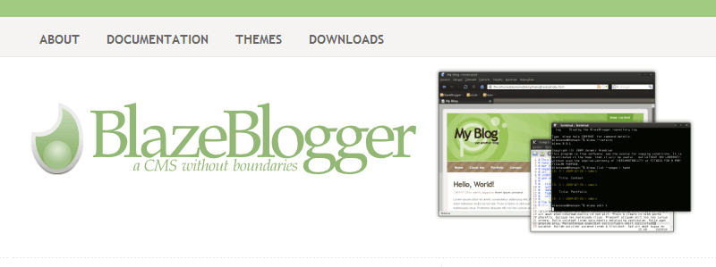 Alternativas a Wordpress: BlazeBlogger