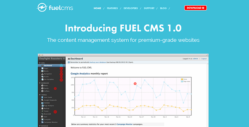 Alternativas a WordPress: FuelCMS