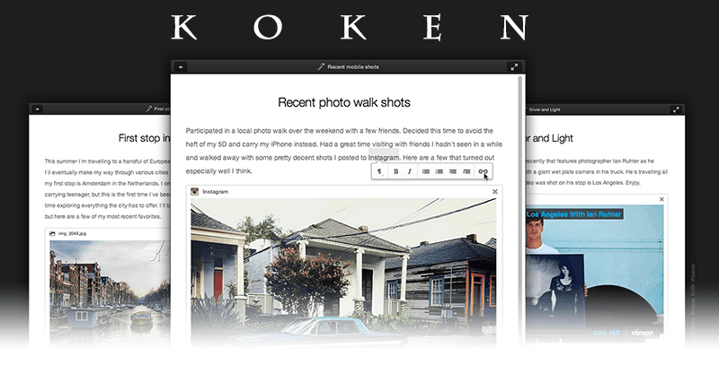 Alternativas a WordPress: Koken