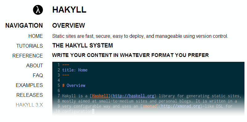 Alternativas a WordPress: Hakyll