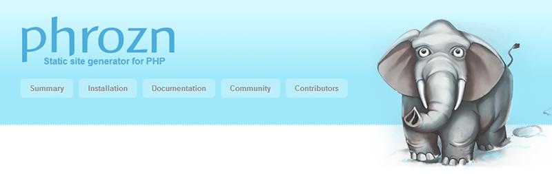 Alternativas a WordPress: Phrozn
