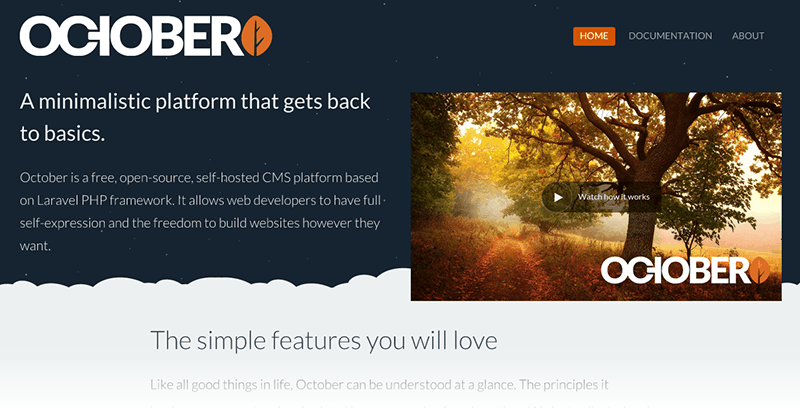 Alternativas a Wordpress: Octobercms