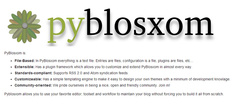Alternativas a Wordpress: PyBlosxom