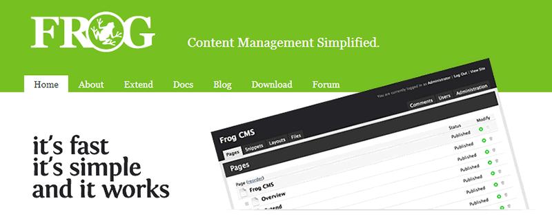 Alternativas a WordPress: Frog CMS