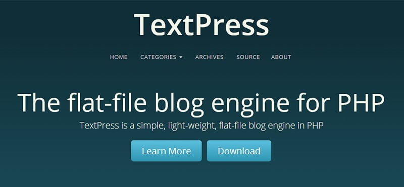 Alternativas a Wordpress: TextPress