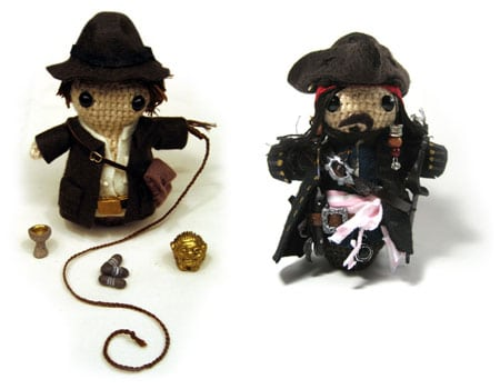 amigurumi indy indiana jones jack sparrow