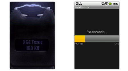 virtual tazer metal detector android apps aplicaciones