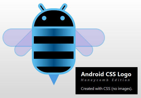 android 2.3 honeycomb css logo