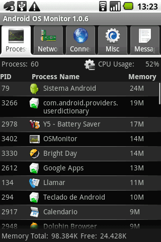 os monitor android