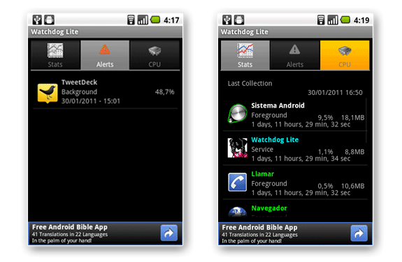 android watchdog lite