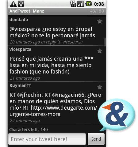 andtweet twitter android