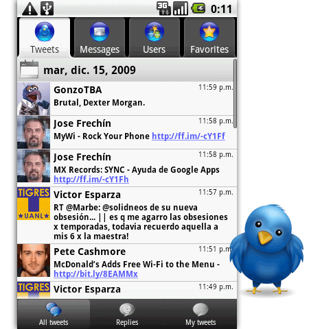 I Tweet twitter android