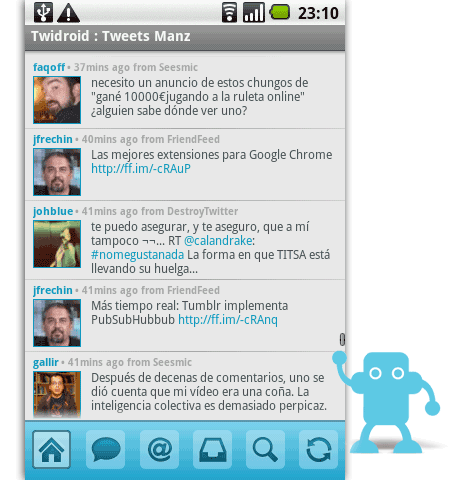 twidroid twitter android