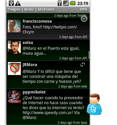twigee twitter android