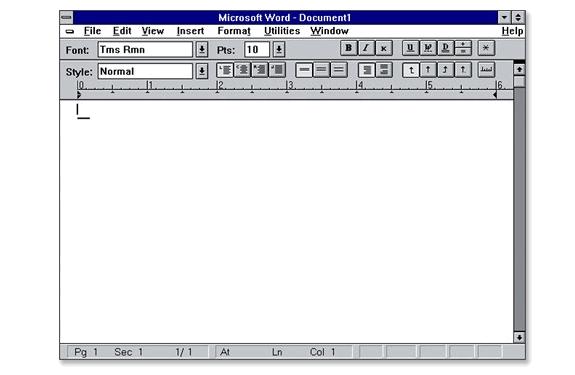 Aplicaciones antiguas: Microsoft Word 1.0