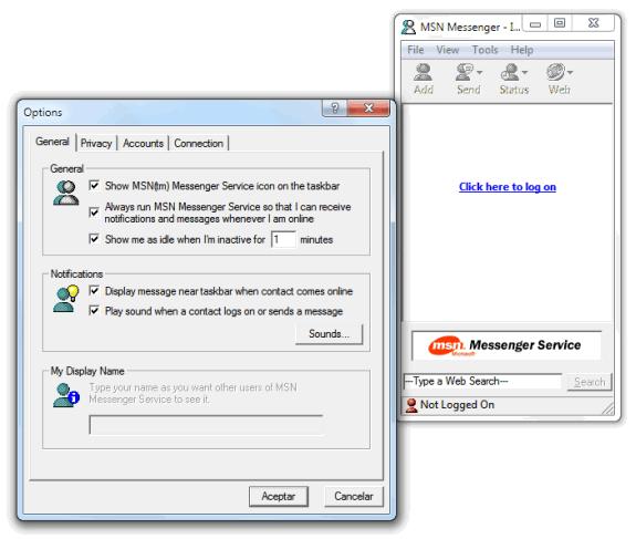 Aplicaciones antiguas: MSN Messenger 1.0