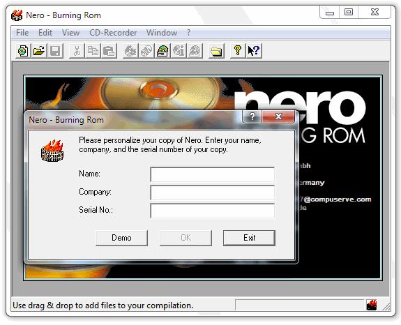 Aplicaciones antiguas: Nero Burning ROM 1.0
