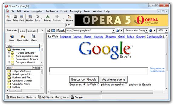Aplicaciones antiguas: Opera 5.02