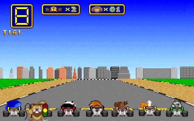 Juego Wacky wheels (Clon del Super Mario Kart de SNES)