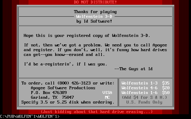 Wolf3D formatear discos duros