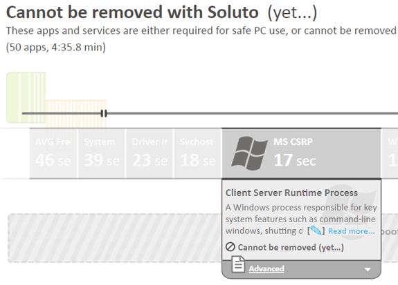 Soluto: Programas del sistema (no eliminables aún)