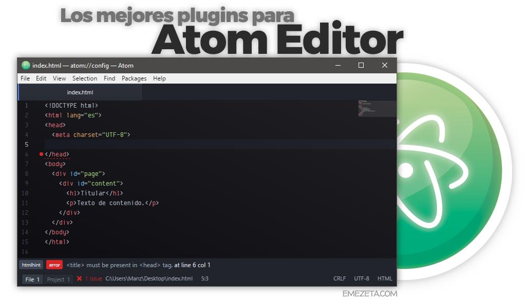 Los mejores plugins de Atom Editor