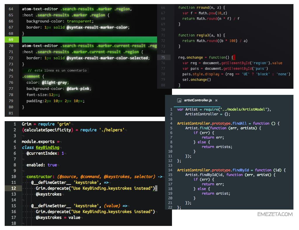 Themes para Atom Editor