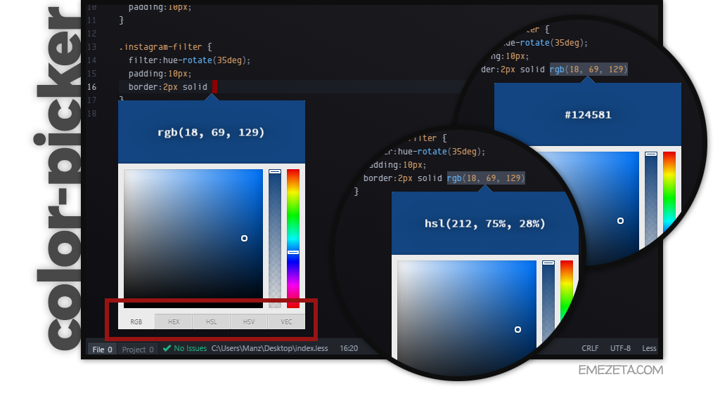 Color-picker para Atom Editor