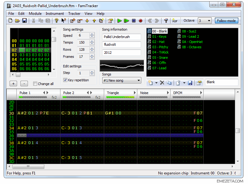 Trackers musicales: Famitracker