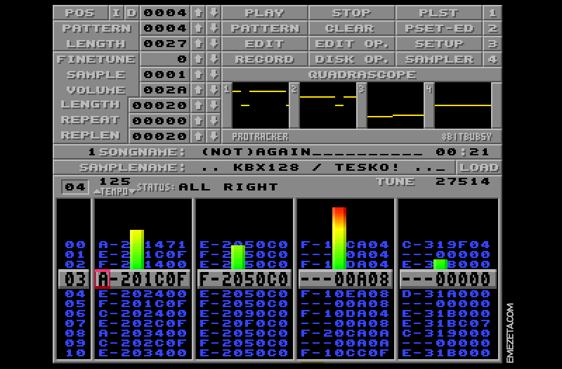 Trackers musicales: MOD, Protracker Rewrite (Windows)