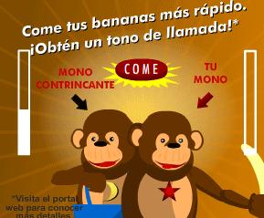 Banner que muestra un mini juego en el que hay que comer mas bananas que el adversario