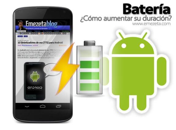 Batería: Aumentar bateria android