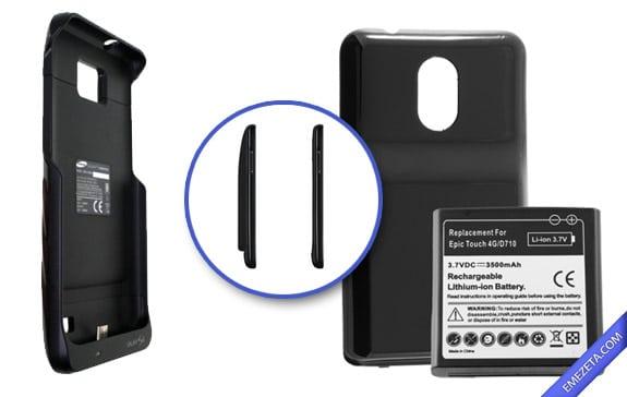 Baterías extendidas: Mayor tamaño y peso a cambio de más duración