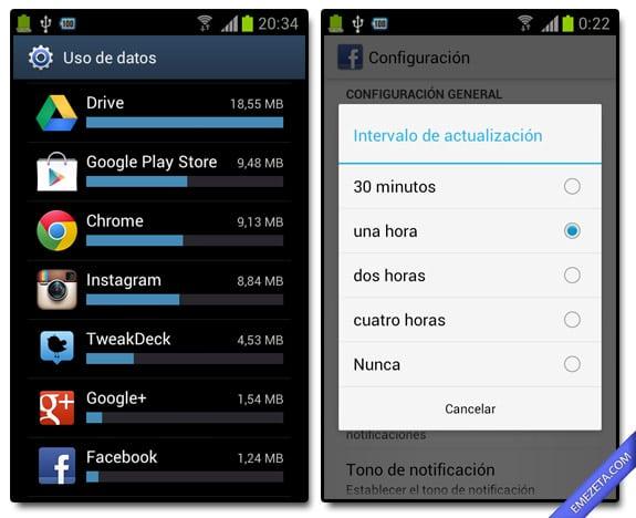 Consumo de datos y notificaciones: Gastan mucha batería