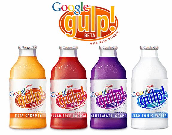Productos ficticios de Google: Google gulp