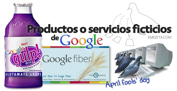Productos (o servicios) ficticios de Google (April Fools)