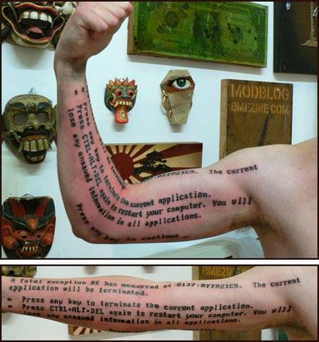 bsod tatoo tatuaje geek