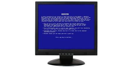 bsod pantallazo azul tft pantalla