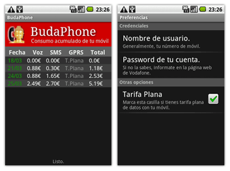 budaphone android vodafone