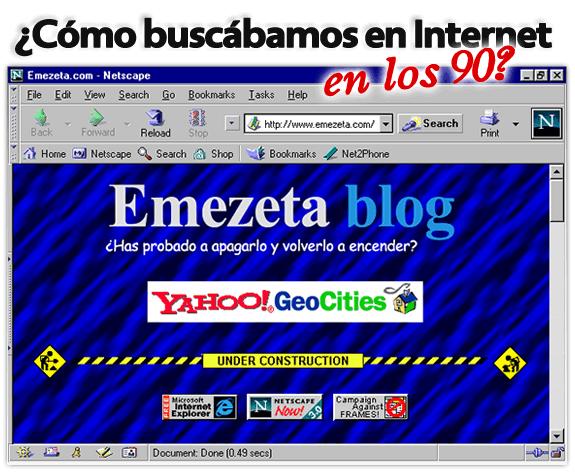 Buscadores de Internet de los 90 (por Emezeta blog)