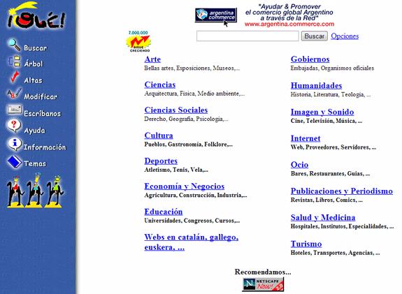 Buscadores de Internet de los 90: Ole 1996